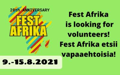 Fest Afrika is looking for volunteers!